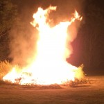 The 20th annual bonfire roars to life at Rob's Barn. 9/19/15